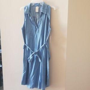 Chambray denim dress large 12/14
